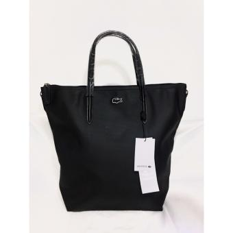 Harga LACOSTE WOMEN'S L.12.12 CONCEPT VERTICAL TOTE BAG BLACK