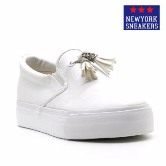 Harga New York Sneakers Hayes Slip On Shoes(WHITE)