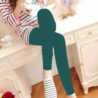Fashionista Fashionable Plain Leggings (Blue Green) Price Philippines