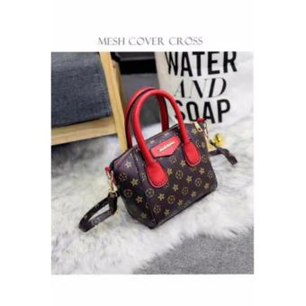 Harga Elena Korean fashion handbag (Coffee/Red)