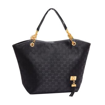 Harga Hot Sale Women Leather Handbag Lady Shoulder Bags(black) - intl