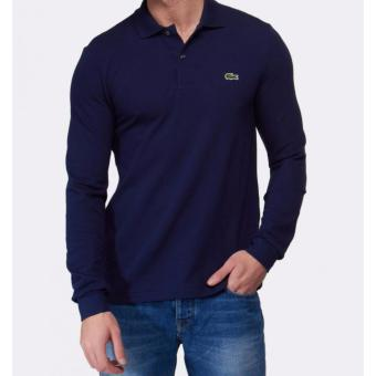 Harga LACOSTE CLASSIC LONGSLEEVES FOR MEN (NAVY BLUE)