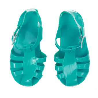 Harga MagiDeal Kids Girls' Flat Shoes Jelly Beach Sandals Green