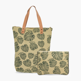 Harga Kultura Tropical Leaves Bag Set (Green)