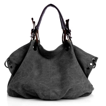 Women Fashion Canvas Casual Tote Bags Hobo Shoulder Bag Black Price Philippines