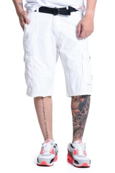 Harga Bobson Tapered Cargo Short (White)