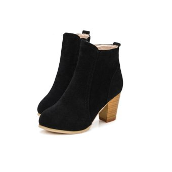 Autumn Winter Boots With High Heels Boots Shoes Martin Boots Women Ankle - intl Price Philippines