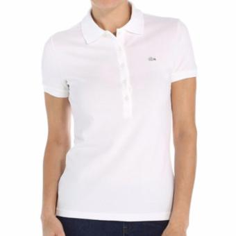Harga LACOSTE MONOTONE 5 BUTTONS FOR WOMEN (WHITE)