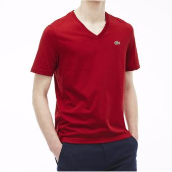 Harga LACOSTE VNECK FOR MEN (MAROON)