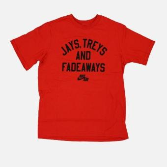Harga Nike Jays, Treys, and Fadeaways T-Shirt (XL) - Red