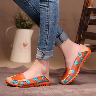 Spring Autumn Women genuine leather flats lazy soft leather shoes Price Philippines