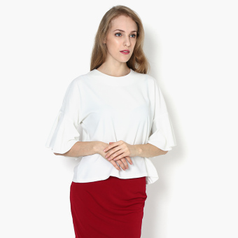 Harga SM Woman Drop-shoulder Boxy Top (White)