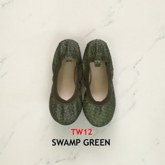 Harga Comfylishoes Weave Thin Ballet Flats (Swamp Green).