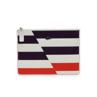 Harga Lacoste Medium Gabriella Clutch (Flash Cyber Orange)