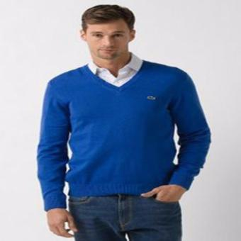Harga LACOSTE VNECK LONGSLEEVES FOR MEN ROYAL BLUE