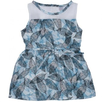 Bebe by SO-EN Infant's Sleeveless Dress with String Belt (Aqua) Price Philippines