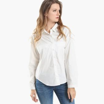 Harga SM Woman Long-Sleeved Blouse (White)