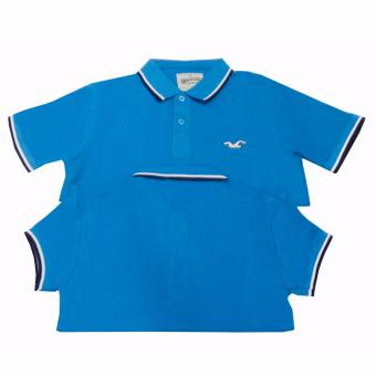 Hollister Couple Polo Shirt(Cornflower Blue) Price Philippines