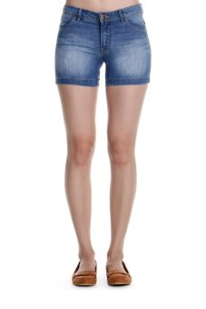 Harga Bobson Women's Low Waist Shorts (Indigo)