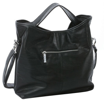 Women Hobo PU Leather Cross Body Shoulder Bag Black Price Philippines