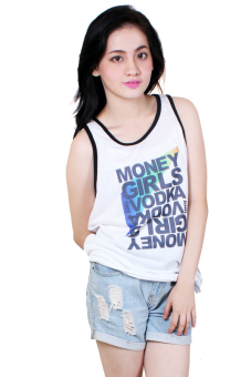 Money Girls Vodka Quotable Printed White Sando Price Philippines