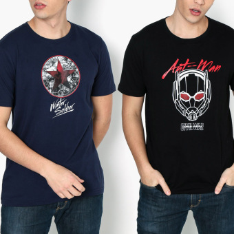 Harga Civil War 2-piece Ant-man Line Art and Winter Soldier Teens Tee Set (S)