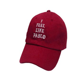 Fancyqube Hot Sale I Feel Like Pablo Hat Adjustable Hip Hop Baseball Cap Yeezy Cap Red - intl Price Philippines