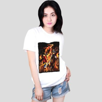 Anime One Piece Ace, Luffy and Sabo Cool Cotton Slim Tops Printed Brotherhood Tee Shirts (White) Price Philippines