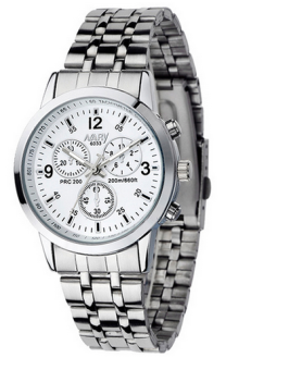 OEM Casual Men's Silver Stainless Steel Strap Watch 9090 White Price Philippines