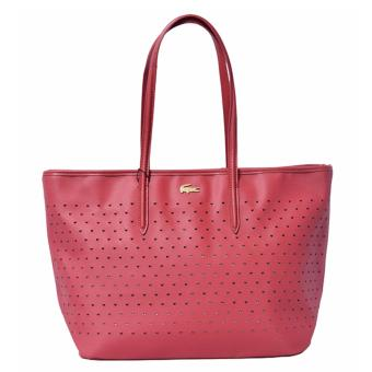 Harga Lacoste Chantaco Perforated Pique Tote Bag (Red)