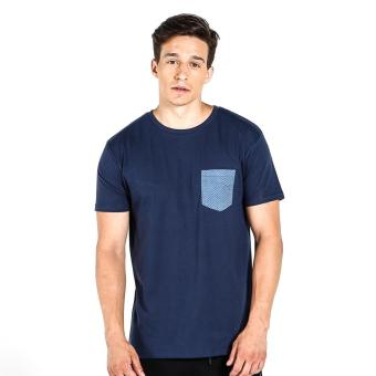 Harga Penshoppe Semi Fit Tee With Pocket Detail (Navy Blue)