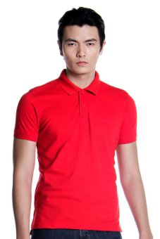 Harga Bobson Regular Fit Plain Polo Tee (High Risk Red)