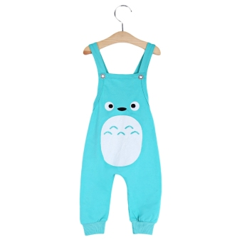 Unisex Child Boys Girls Cute Little Fox Pattern Cotton Blend Casual Dungarees Rompers Overalls Haren Pants - intl Price Philippines