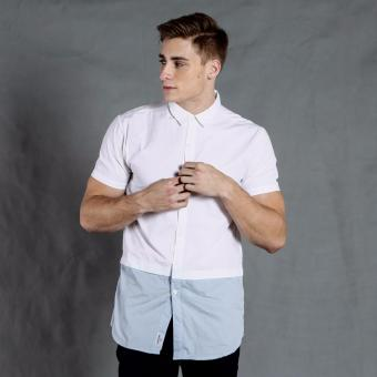 Harga PENSHOPPE Short-sleeved Shirt with back print and extended hem (White)