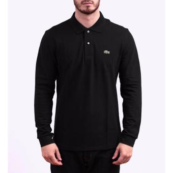 Harga LACOSTE CLASSIC LONGSLEEVES FOR MEN (BLACK)