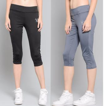 Harga BUY 1 TAKE 1 Outperformer Casual Capri Pants with 3D Extra Stretch and Dry Max Technology (Ebony and Military Grey)