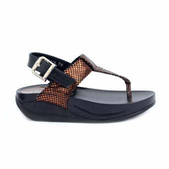 Ohrelle Andria Metallic Flops Sandals (Bronze) Price Philippines