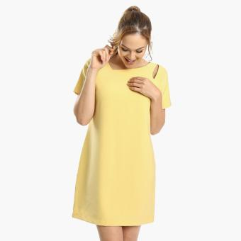 Harga SM Woman Prima Asymmetrical Shift Dress (Yellow)