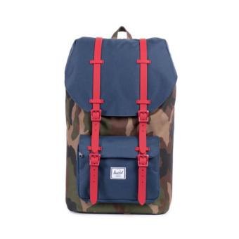 Harga HERSCHEL SUPPLY CO. LITTLE AMERICA BACKPACK 25L WOODLAND CAMO RED STRAP