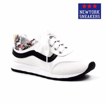 Harga New York Sneakers Sara Rubber Shoes(WHITE)