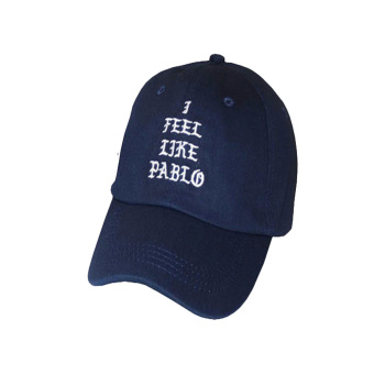 Fancyqube Hot Sale I Feel Like Pablo Hat Adjustable Hip Hop Baseball Cap Yeezy Cap Navy - intl Price Philippines