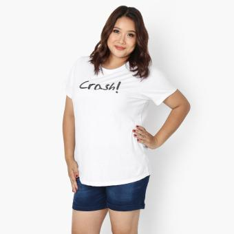 "Harga SM Woman Plus ""Crash"" Statement Tee (White)"