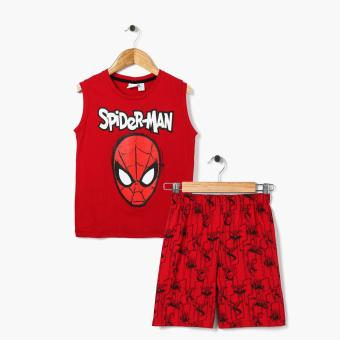 Harga Marvel Spider-man Boys Muscle Tee and Shorts Set (Red)