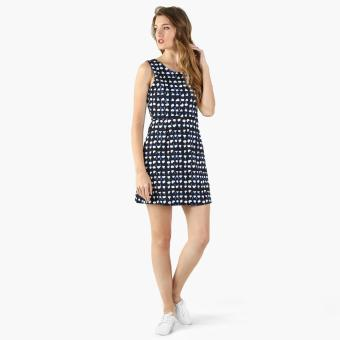 Harga GTW Fab Blot Print A-Line Dress (Navy Blue)