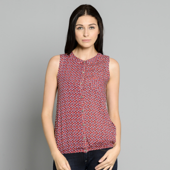 Harga Jag Ladies Sleeveless Bubble hem (Red)