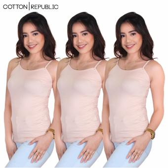 Harga Set of 3 Fab Spaghetti Strap Inner Blouse (Cream)