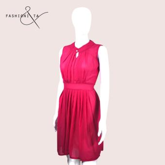 Fashionista Alexa Chiffon Dress (Pink) Price Philippines
