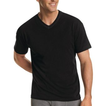 Harga Hanes Premium Comfort for Men V Neck (Assorted Colors) - Set of 3