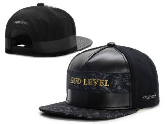 Harga Cayler Sons Black Lable God Level Leather Snapback Hats - Intl