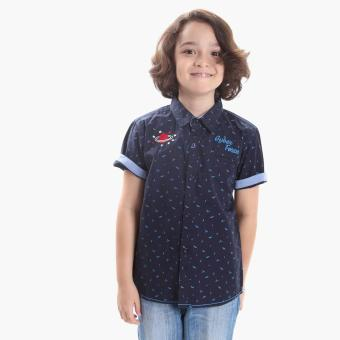 Harga BGS Boys Space Casual Shirt (Navy Blue)